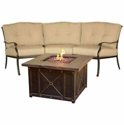 TRADDURA2PCFP Traditions 2-Piece Chat Set with Durastone Fire Pit