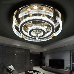 LED Remote Control Bubble Crystal Round Ceiling Lights Pendant Lamps Chandelier