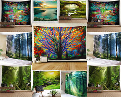 US SHIP Tapestry Wall Hanging Scenery Theme Tapestry Wall Hanging for Home Decor $15.10