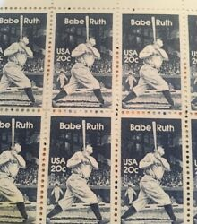 10 Old  Babe Ruth stamps DressUp Your Mail-perfect For A Baseball Fan Wedding