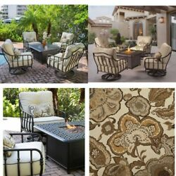 Backyard 5-piece Patio Set w Fire Pit Table & Swivel Chairs Outdoor Furniture