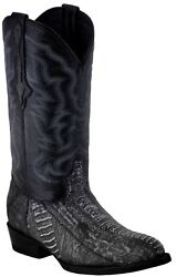 Mens Gray Real Ostrich Foot Exotic Skin Leather Cowboy Boots Western J Toe $179.99