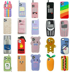 Cute 3D Cartoon Kids Cover Case For iPhone 11 11 Pro Max XS Max XR XS 8 7 6 Plus $6.99