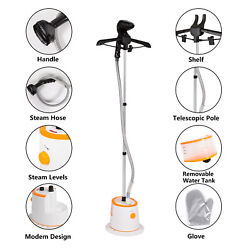 Home Iron Upright Portable Fabric Steam Laundry Electric Steamer BrushHanger