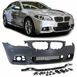 Sport from bumper with grills for BMW 5 series F10 F11 facelift  from 2013