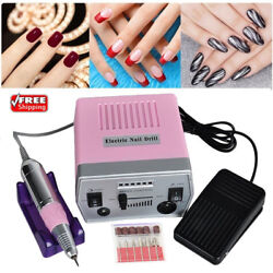 30000 RPM Professional Electric Nail Drill File Bits Machine Manicure Kit Pink B