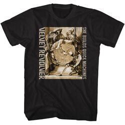 Velvet Revolver Tall T-Shirt She Builds Quick Machines Black Tee