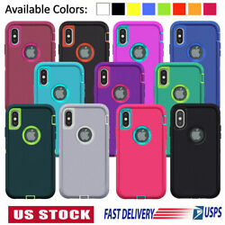 For iPhone 11 12 Mini Pro 6 7 8 Plus XS Max XR X SE Case Shockproof Rubber Cover $6.99