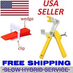 100-1000 Reusable Flat Tile Leveling System Clips Wedges Wall Floor Spacers