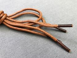 Light Brown Dress Shoe Shoelaces Round Waxed Cotton 27 Inch 3 Eyelet Lace String $3.99