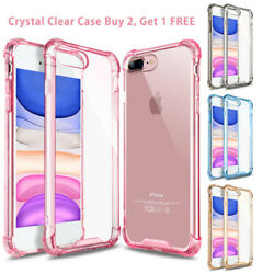 For iPhone 8Plus 11 Pro Max XR XS 7 Clear Defender Case Bumper Shockproof Cover