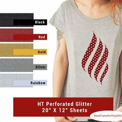 HTV4U Perforated Glitter Heat Transfer Vinyl 20
