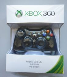Official Microsoft Xbox 360 Wireless Controller BLACKWHITE - NEW! US Stock