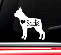 Boston Terrier Dog car decal with custom name