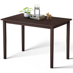 Modern Rectangle Dining Table Wooden Legs Kitchen Living Room Furniture Espresso