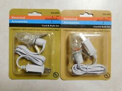 2 New Fused 3' Foot C7 Replacement Blow Mold Christmas Outdoor Light CordSocket
