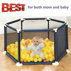 NEW 6-Panel Indoor Outdoor Kids Portable Baby Play Yard Safety Infant Playard BP