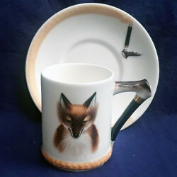 REYNARD THE FOX by Royal Doulton Demi Cup & Saucer Type 1 NEW NEVER USED England
