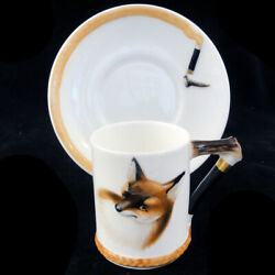 REYNARD THE FOX by Royal Doulton Demi Cup & Saucer Type 3 NEW NEVER USED England