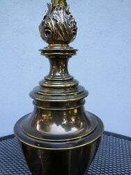 Stiffel Vintage Trophy Flame Urn Neo classical Antique Brass Lamp MCM 361 2quot;H $129.95