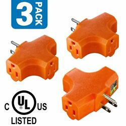 3-Outlet Grounding Adapter ANKO [UL Listed] Heavy-Duty Grounded Power Tap $9.99