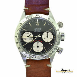 Rolex Vintage Daytona 6265 Stainless Steel Vera Pelle Leather Brown Strap 1979