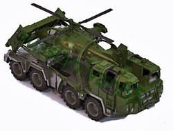 Military truck and helicopter. The very big war machine. 224#x27;#x27;×106#x27;#x27;×10#x27;#x27; $46.40