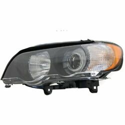 HID Headlight For 2000-2003 BMW X5 Left w Bulb and White Turn Signal Light