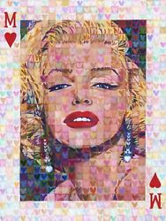 MARILYN MONROE PORTRAIT Pop Art Painting by Randal Huiskens 30x40