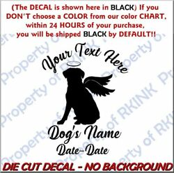 Personalized DOG MEMORY Wings #6A Vinyl DECAL for Wall Window Car Jack Russell $7.75