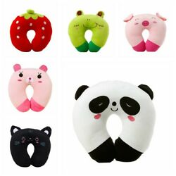 U Shape Toy Animal Pillow For Baby Kid Travel Car Seat Neck Rest Soft Cotton