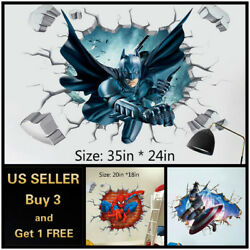 US 3D Wall stickers Superhero Kids Cartoon Room Decal Wallpaper Removable $9.99