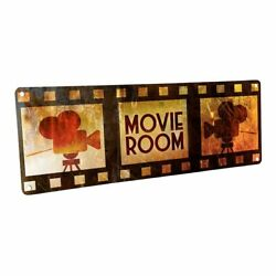 Movie Room Metal Sign; Wall Decor for Home Theater or Family Room $36.99
