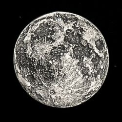 Blood Moon - Full Moon 14 oz .999 Silver Antiqued Worry Gift Or Reminder Coin