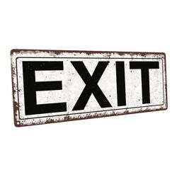 Exit Metal Sign; Wall Decor for Home and Office $19.99