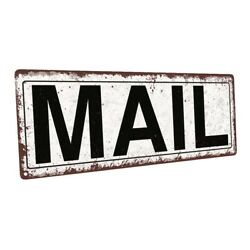 Mail Metal Sign; Wall Decor for Home and Office $44.99
