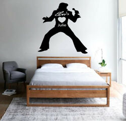ELVIS Loves You PERSONALISED Silhouette Wall art decor vinyl sticker Decal