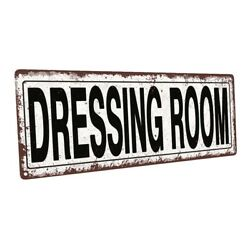 Dressing Room Metal Sign; Wall Decor for Home and Office $19.99