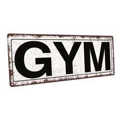 Gym Metal Sign; Wall Decor for Home and Office $24.99