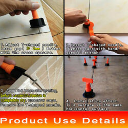 50PCS Master Floor Tile Leveler T-lock Level Spacers Positioning System Wedges