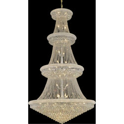 1800 Primo Collection Chandelier D:54in H:96in Lt:48 Chrome Finish (Royal Cut...