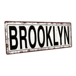 Brooklyn Metal Sign; Wall Decor for Home and Office $44.99