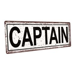 Captain Metal Sign; Wall Decor for Home and Office $44.99