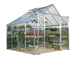 Snap and Grow 8 ft. x 8 ft Silver Polycarbonate Home Planter Portable Greenhouse
