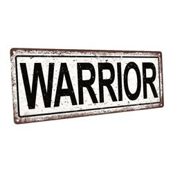 Warrior Metal Sign; Wall Decor for Home and Office $44.99
