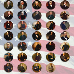 Presidents of the US America Pin back Badge Button 5.8cm2.2