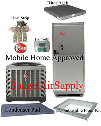 Rheem 3 ton 14 SEER HEAT PUMP Split System RP1436AJ1 MOBILE HOME APPROVED+extras