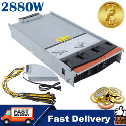 2880W Power Supply For Two (X2) Antminer S9 S7 L3 Mining With Harness Cable BE