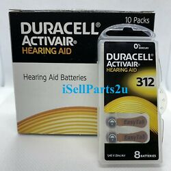 New Duracell Hearing Aid Batteries Size 312 Fast shipping Choose from 4 to 240 $23.48