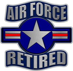 Air Force Retired vinyl sticker for skateboard luggage laptop tumblers  t